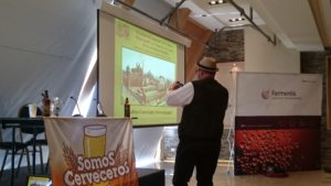 Frank Gauger de Weryemann dando una ponencia magistral acerca de su proceso de producción!